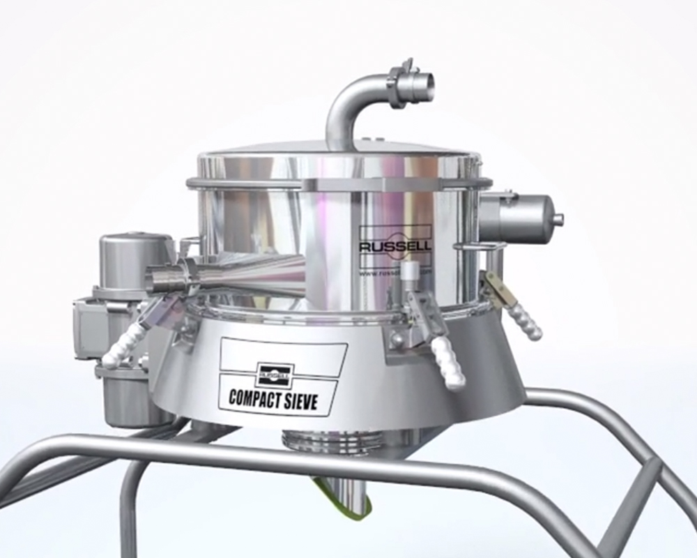 Vibrating sieve for checking screening small batches